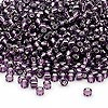 Seed bead, Dyna-Mites™, glass, silver-lined amethyst purple, #8 round. Sold per 40-gram pkg.