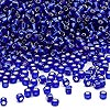 Seed bead, Dyna-Mites™, glass, silver-lined transparent cobalt, #11 round. Sold per 1/2 kilogram pkg.