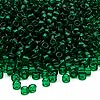 Seed bead, Dyna-Mites™, glass, transparent emerald green, #8 round. Sold per 40-gram pkg.
