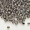 Seed bead, Dyna-Mites™, nickel-finished glass, #6 round. Sold per 1/2 kilogram pkg.