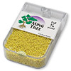 Seed bead, Ming Tree™, glass, opaque luster yellow, #11 round. Sold per pkg of 1/4 pound.