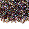 Seed bead, Ming Tree™, glass, opaque rainbow gold purple, #11 round. Sold per pkg of 1 pound.