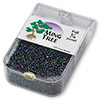 Seed bead, Ming Tree™, glass, opaque rainbow peacock, #11 round. Sold per pkg of 1/4 pound.