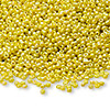 Seed bead, Ming Tree™, glass, opaque rainbow yellow, #11 round. Sold per pkg of 1 pound.