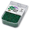 Seed bead, Ming Tree™, glass, silver-lined emerald green, #11 round. Sold per pkg of 1/4 pound.