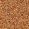 Seed bead, Ming Tree™, glass, silver-lined tan, #11 round. Sold per pkg of 1 pound.