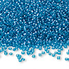 Seed bead, Ming Tree™, glass, transparent luster royal blue, #11 round. Sold per pkg of 1 pound.