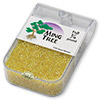 Seed bead, Ming Tree™, glass, transparent luster yellow, #11 round. Sold per pkg of 1/4 pound.