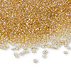 Seed bead, Ming Tree™, glass, transparent tan, #11 round. Sold per pkg of 1 pound.