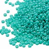 Seed bead, Miyuki, glass, opaque light teal, (#412), #15 rocaille. Sold per 250-gram pkg.