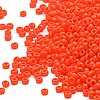 Seed bead, Miyuki, glass, opaque orange, (#406), #15 rocaille. Sold per 35-gram pkg.