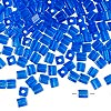 Seed bead, Miyuki, glass, transparent cobalt, (#SB150), 3.5-3.7mm square. Sold per 25-gram pkg.