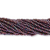 Seed bead, Preciosa Czech glass, iris metallic moss, #11 round. Sold per pkg of 1 hank.