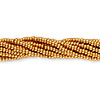 Seed bead, Preciosa Czech glass, metallic dark gold, #11 round. Sold per hank.