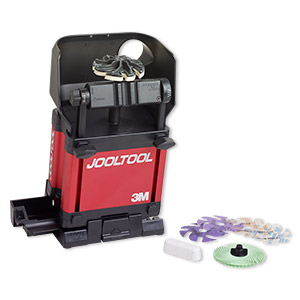 Sharpening and polishing system, Jooltool™, aluminum / plastic / steel, black and red, 100-240v / 50-60 HZ, 12 x 5-1/2 x 7 inches. Sold per 14-piece set.