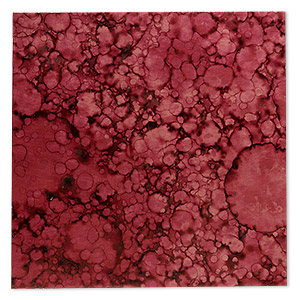 Sheet, Lillypilly, lacquered copper, red wine patina, 3-inch single-sided square, 36 gauge. Sold individually.