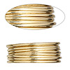 Wire, 12Kt gold-filled, dead-soft, half-round, 14 gauge. Sold per pkg of 5 feet.