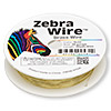 Wire, Zebra Wire™, brass, gold color, round, 30 gauge. Sold per 50-yard spool.