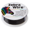 Wire, Zebra Wire™, color-coated copper, black, round, 24 gauge. Sold per 1/4 pound spool, approximately 71 yards.