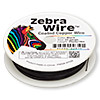 Wire, Zebra Wire™, color-coated copper, black, round, 24 gauge. Sold per 20-yard spool.