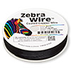 Wire, Zebra Wire™, color-coated copper, black, round, 28 gauge. Sold per 1/4 pound spool, approximately 164 yards.