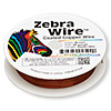 Wire, Zebra Wire™, color-coated copper, brown, round, 28 gauge. Sold per 40-yard spool.