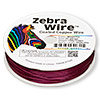 Wire, Zebra Wire™, color-coated copper, magenta, round, 22 gauge. Sold per 1/4 pound spool, approximately 45 yards.
