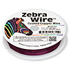 Wire, Zebra Wire™, color-coated copper, magenta, round, 24 gauge. Sold per 20-yard spool.