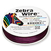 Wire, Zebra Wire™, color-coated copper, magenta, round, 26 gauge. Sold per 1/4 pound spool, approximately 115 yards.