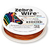 Wire, Zebra Wire™, color-coated copper, orange, round, 18 gauge. Sold per 10-yard spool.