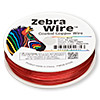 Wire, Zebra Wire™, color-coated copper, red, round, 22 gauge. Sold per 1/4 pound spool, approximately 45 yards.
