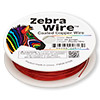 Wire, Zebra Wire™, color-coated copper, red, round, 24 gauge. Sold per 20-yard spool.