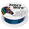 Wire, Zebra Wire™, color-coated copper, sapphire blue, round, 24 gauge. Sold per 1/4 pound spool, approximately 71 yards.