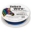 Wire, Zebra Wire™, color-coated copper, sapphire blue, round, 26 gauge. Sold per 30-yard spool.