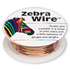 Wire, Zebra Wire™, natural copper, round, 20 gauge. Sold per 15-yard spool.