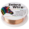 Wire, Zebra Wire™, natural copper, round, 26 gauge. Sold per 1/4 pound spool, approximately 115 yards.
