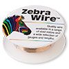 Wire, Zebra Wire™, natural copper, round, 28 gauge. Sold per 40-yard spool.