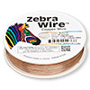 Wire, Zebra Wire™, natural copper, round, 30 gauge. Sold per 1/4 pound spool, approximately 215 yards.
