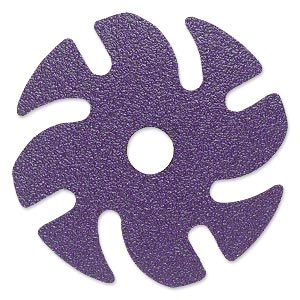 abrasive disc, 3m™ ninja™, plastic and ceramic, purple, 80 grit, 3-inch replacement disc for jooltool™. sold per pkg of 6.