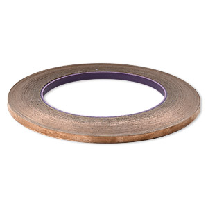 adhesive copper foil, venture tape masterfoil™ plus, 4.76mm wide and 1mm thick with adhesive backing. sold per 36-yard roll.
