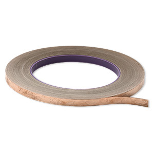 adhesive copper foil, venture tape masterfoil™ plus, 6.35mm wide and 1mm thick with adhesive backing. sold per 36-yard roll.