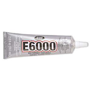 adhesive, e6000 jewelry and craft adhesive, black. sold per 2-fluid ounce tube.