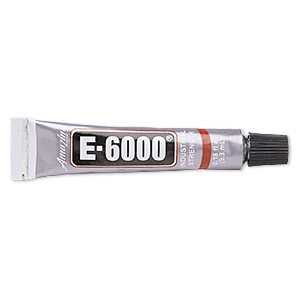adhesive, e6000 jewelry and craft adhesive, clear. sold per pkg of (4) 0.18-fluid ounce tubes.