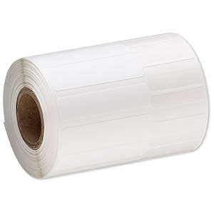 adhesive label, thermal transfer, polyester, white, 3-1/4 x 1/2 inches unfolded. sold per pkg of 50.
