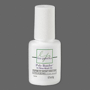 adhesive, signature series poly bonder™ by lisa pavelka, instant-bond for high temperature use. sold per 0.17-ounce bottle.