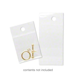 bag, clean-vu, plastic, clear, 1-1/2 x 1-1/2 inches with hole. sold per pkg of 1,000.