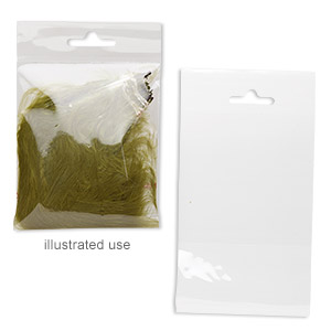 bag, clean-vu, plastic, clear, 3x3 inches with hole. sold per pkg of 100.