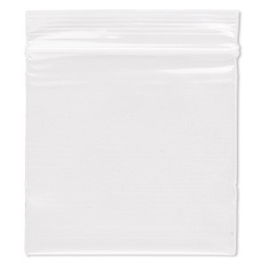 bag, tite-lip™, oxo-biodegradable plastic, clear, 2x2-inch top zip. sold per pkg of 100.
