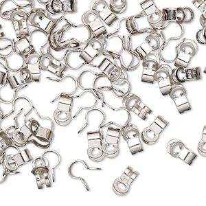 ball chain connector, nickel-finished pewter (zinc-based alloy), 7x4mm, fits 2mm ball chain. sold per pkg of 100.