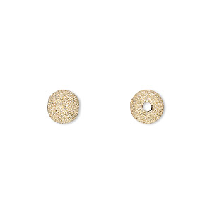 bead, 14kt gold-filled, 7mm stardust round. sold per pkg of 2.